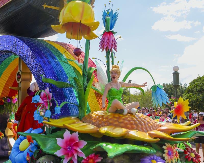Parata Tinkerbell del mondo di Disney Orlando Florida fotografia stock libera da diritti