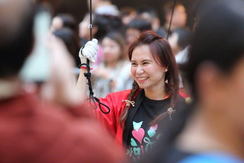 Parate cinesi del nuovo anno in HK fotografia stock