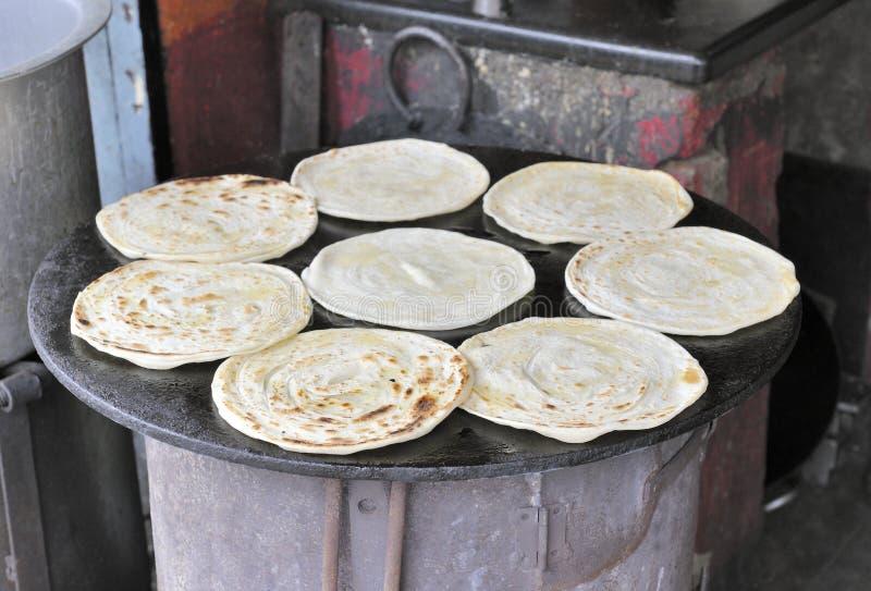 paratha chlebowy indyjski roti zdjęcia stock
