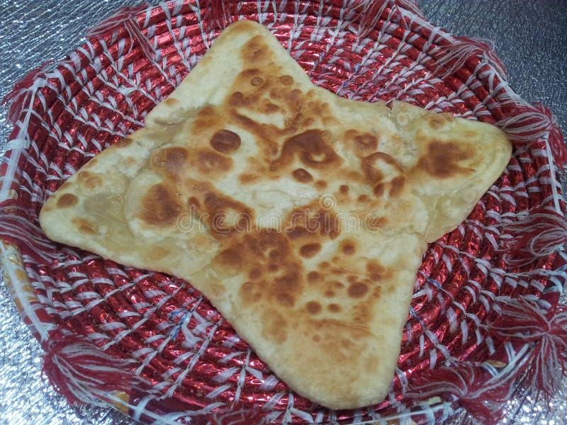 Paratha Wazeliniarski chleb słuzyć w changair fotografia stock