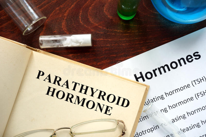 Parathyroid hormoon (PTH) stock foto's