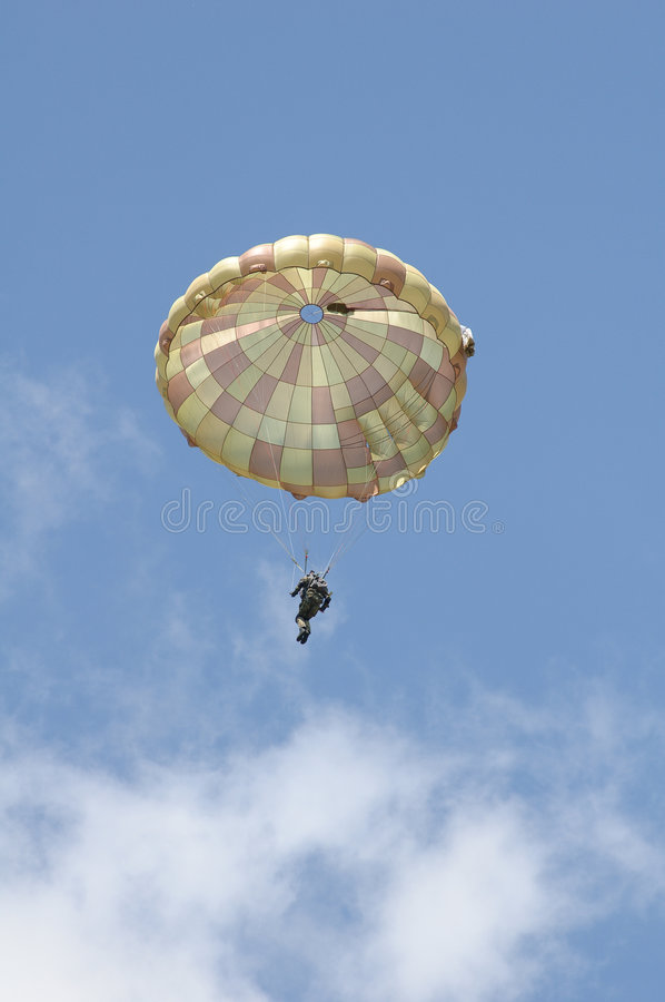 Paratrooper Royalty Free Stock Photography