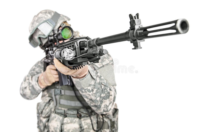 Paratrooper airborne infantry royalty free stock image