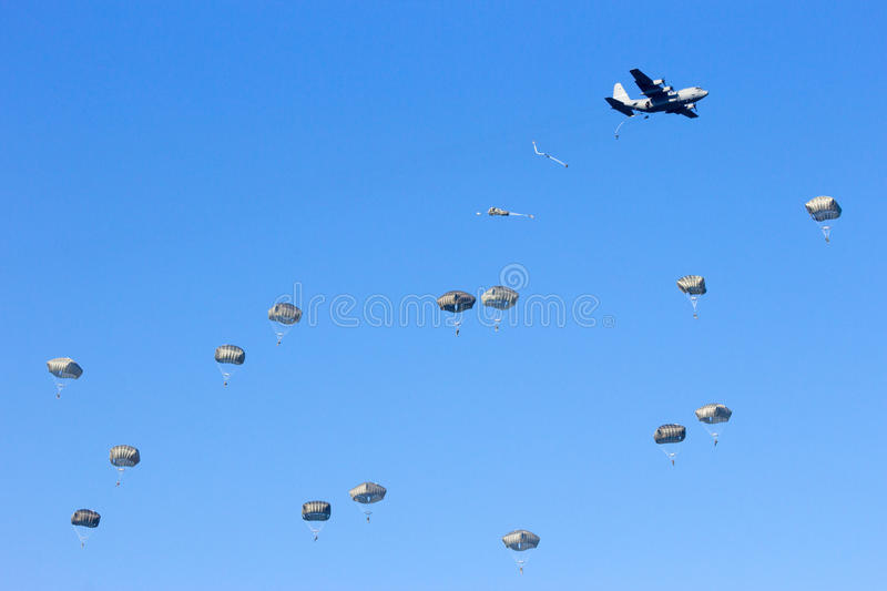 paratroopers fotos de stock royalty free