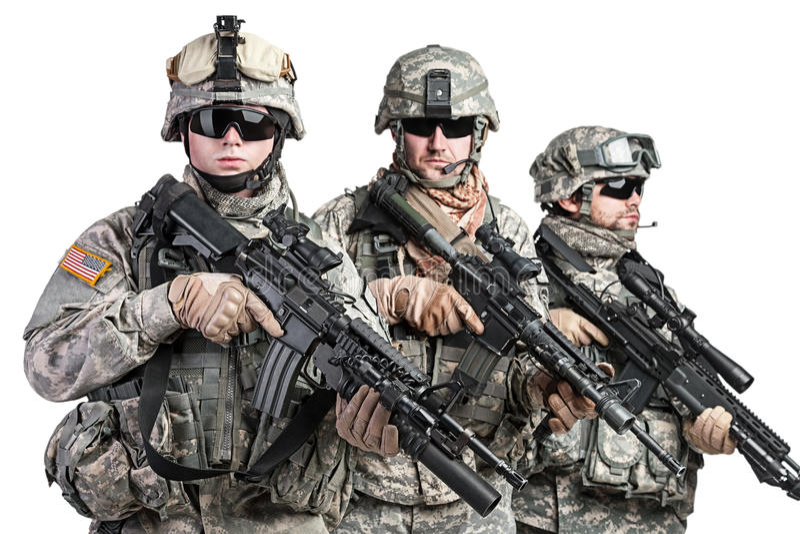 paratroopers fotografia de stock