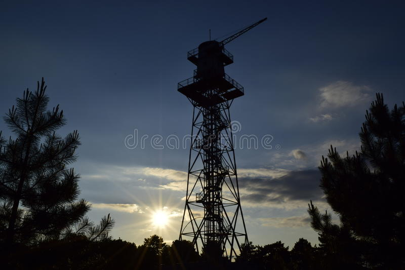 Paratroopers tower royalty free stock photos