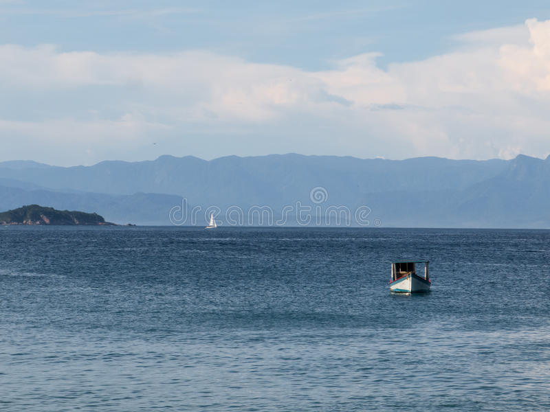 Paraty渔船 免版税图库摄影
