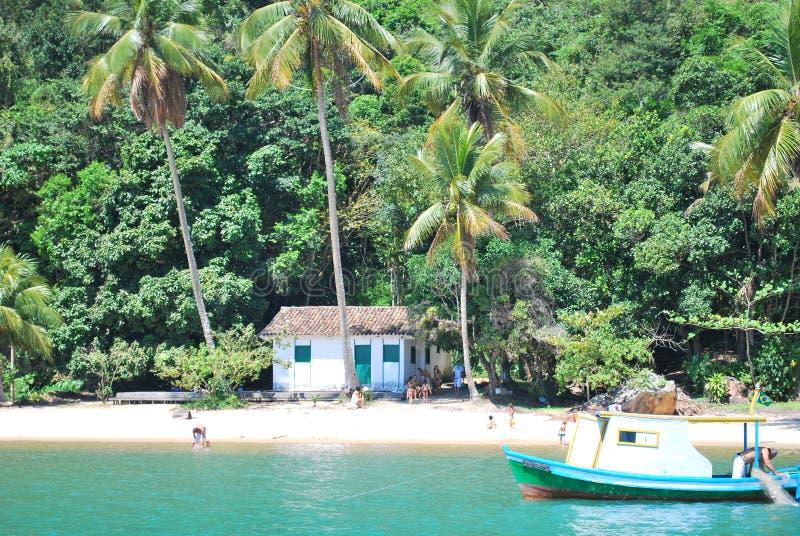 Paraty,里约热内卢,巴西海岛  免版税库存图片