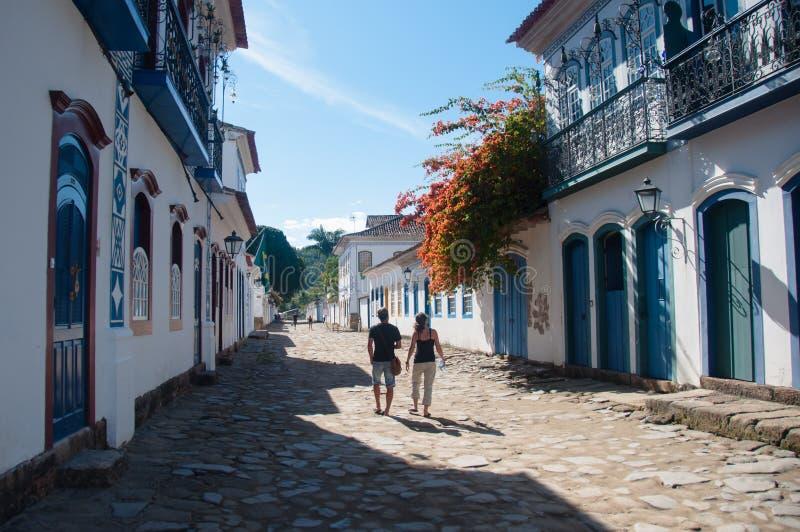 Paraty,里约热内卢,巴西老殖民地镇  免版税库存图片