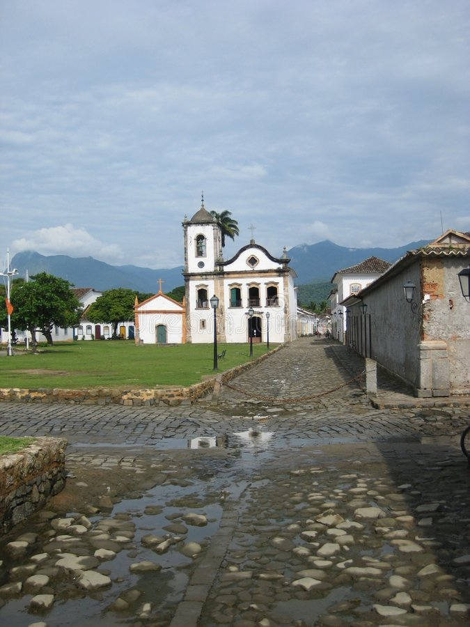 Paraty church royalty free stock photos