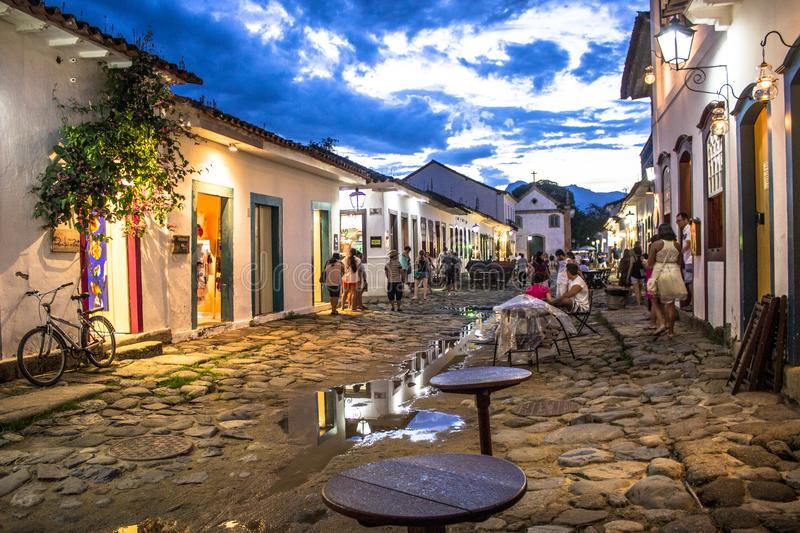 Paraty colonial house royalty free stock photo