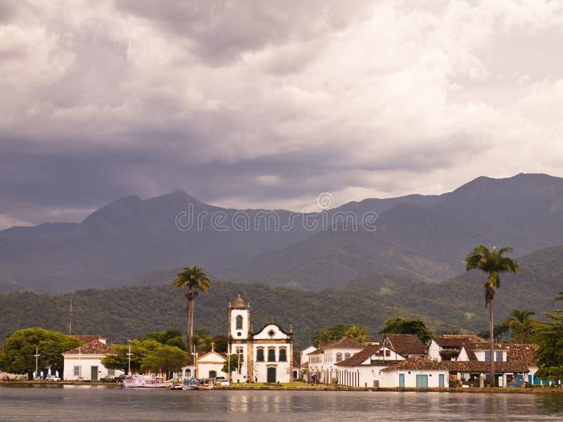 Paraty histórico, Brasil. imagens de stock