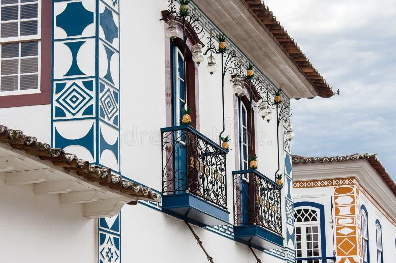 Paraty historisk byggnad arkivfoto
