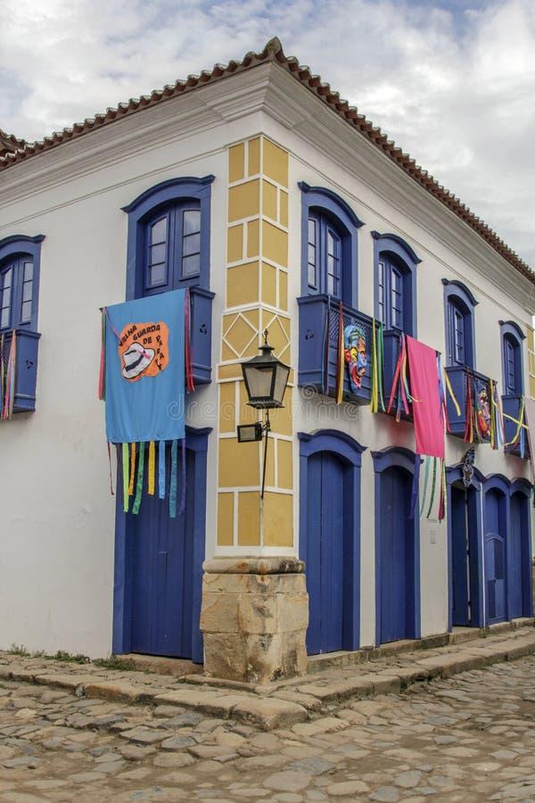 Paraty historisk byggnad i Rio de Janeiro Brazil royaltyfri fotografi