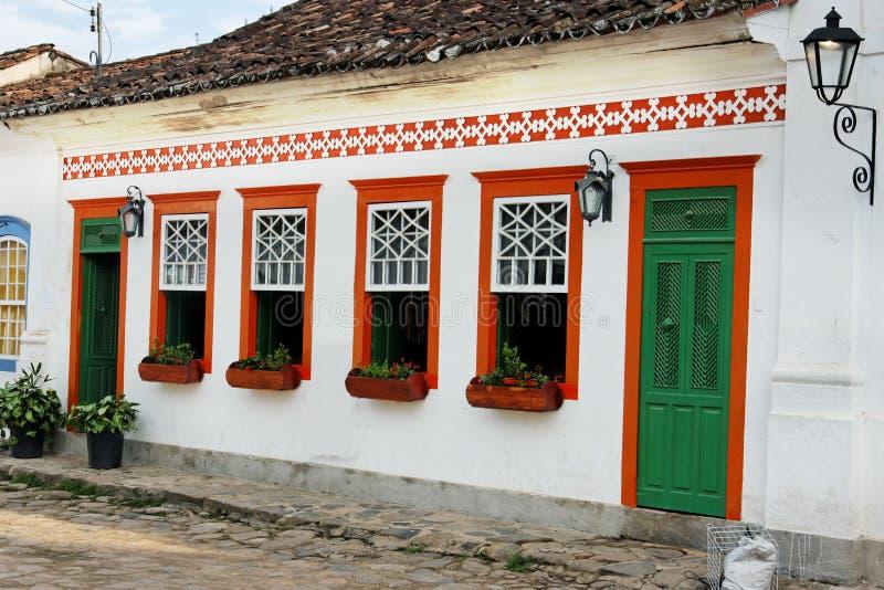 paraty kolonialt hus royaltyfria foton