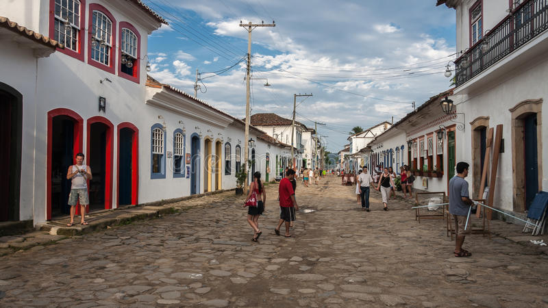 Paraty Rio de Janeiro constructivo histórico fotografía de archivo