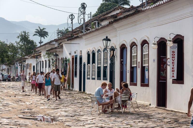 Paraty Rio de Janeiro constructivo histórico foto de archivo