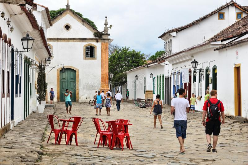 Paraty town, Brazil stock images