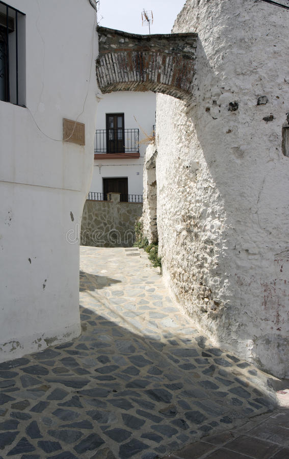Parauta, pueblos blancos típicos de Andalucía foto de archivo libre de regalías