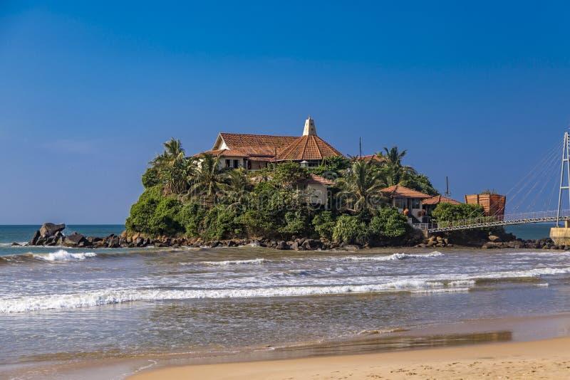 Paravi Duwa寺庙在马塔勒,斯里兰卡 库存图片