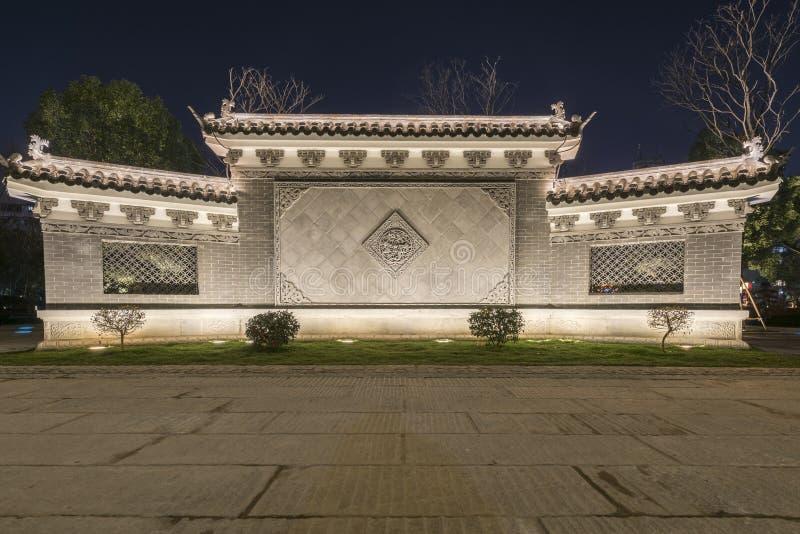 Parawanowa ściana pawilonu parka noc obraz royalty free