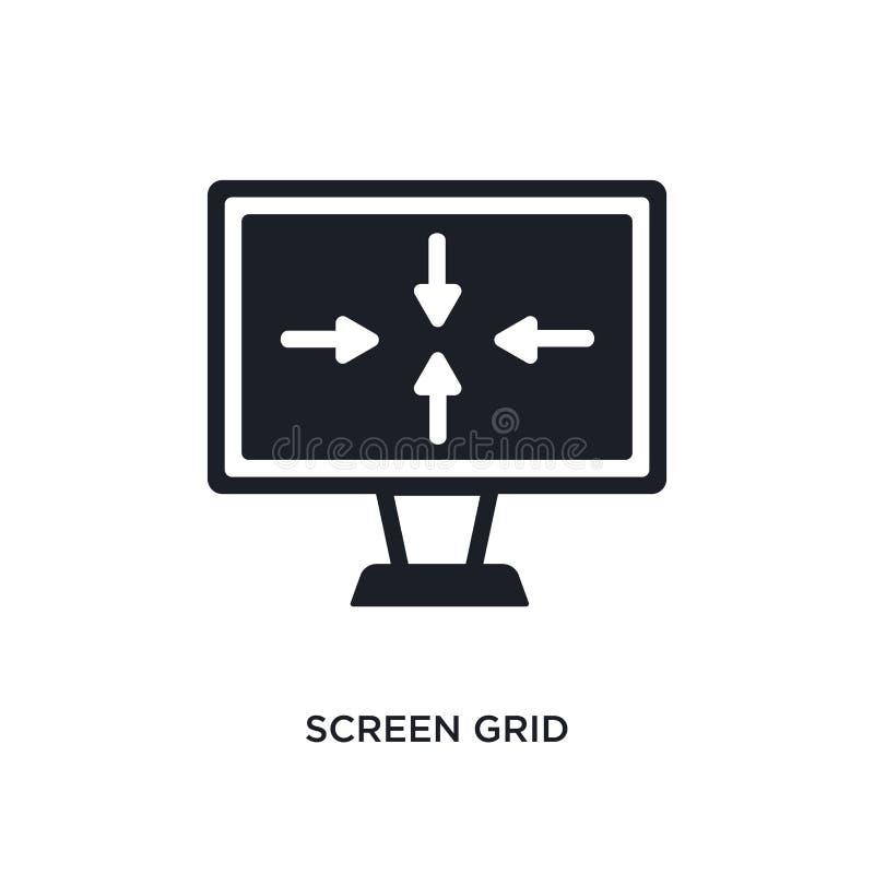 parawanowej siatki odosobniona ikona prosta element ilustracja od elektronicznych materiał pełni pojęcia ikon parawanowej siatki  royalty ilustracja