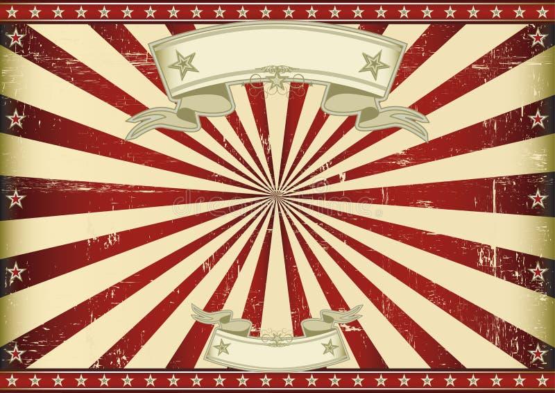 Parawanowi czerwoni roczników sunbeams. ilustracji