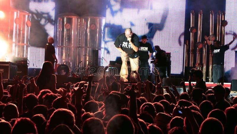 Parazitii hip hop concert royalty free stock photos