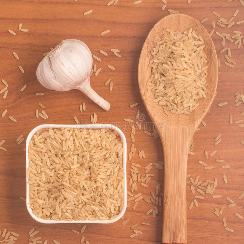 Parbolizado integrale di agulhinha del riso Riso sbramato intero fotografia stock libera da diritti
