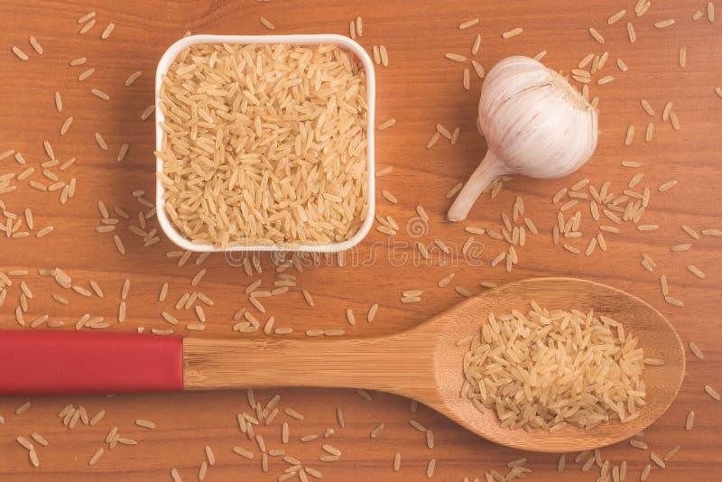 Parbolizado integrale di agulhinha del riso Riso sbramato intero immagine stock libera da diritti