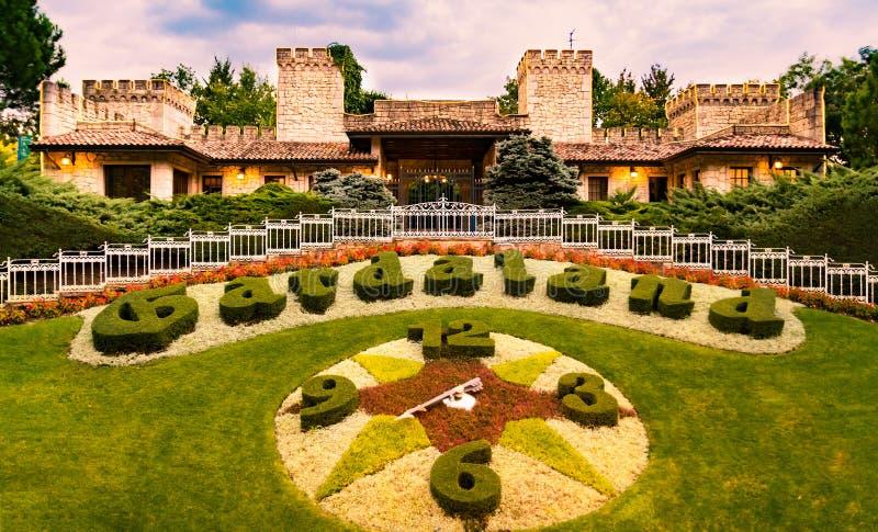 Parc à thème de Gardaland en Castelnuovo Del Garda, Italie photos stock