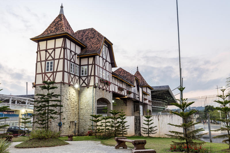 Parc allemand de village, Blumenau, Santa Catarina photographie stock