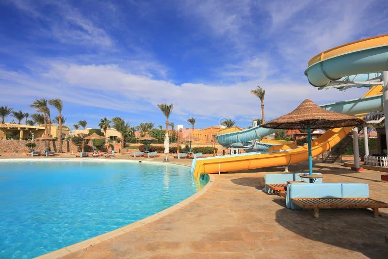 Parc aquatique en Egypte photo stock