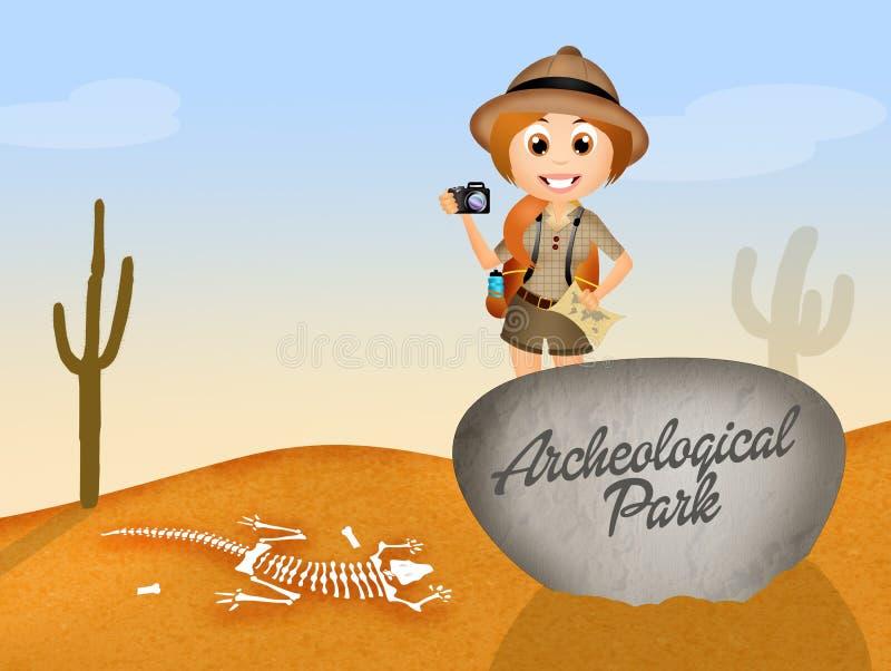 Parc archéologique illustration stock