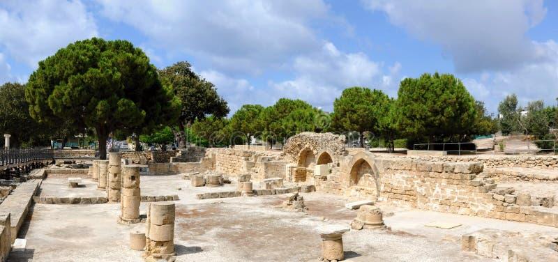Parc archéologique au centre, Paphos, Chypre images stock