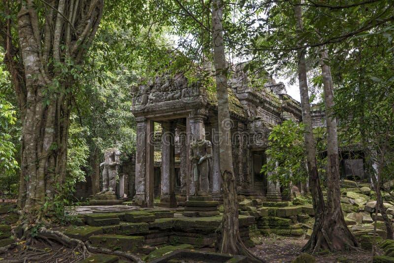 Parc archéologique d'Angkor de temple de Preah Kahn, Cambodge photographie stock