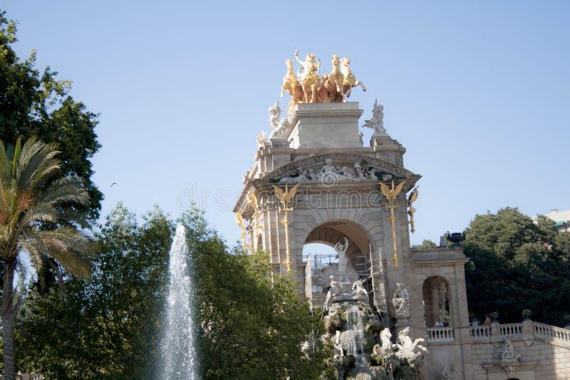 Parc av Ciutadella i Barcelona royaltyfri fotografi