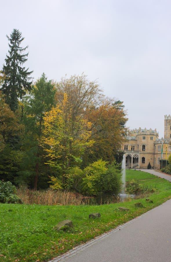 Parc - château Eckberg - Dresde - Allemagne photo stock