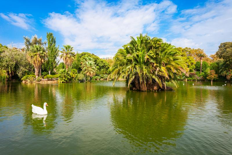 Parc Ciutadella or Citadel Park royalty free stock image