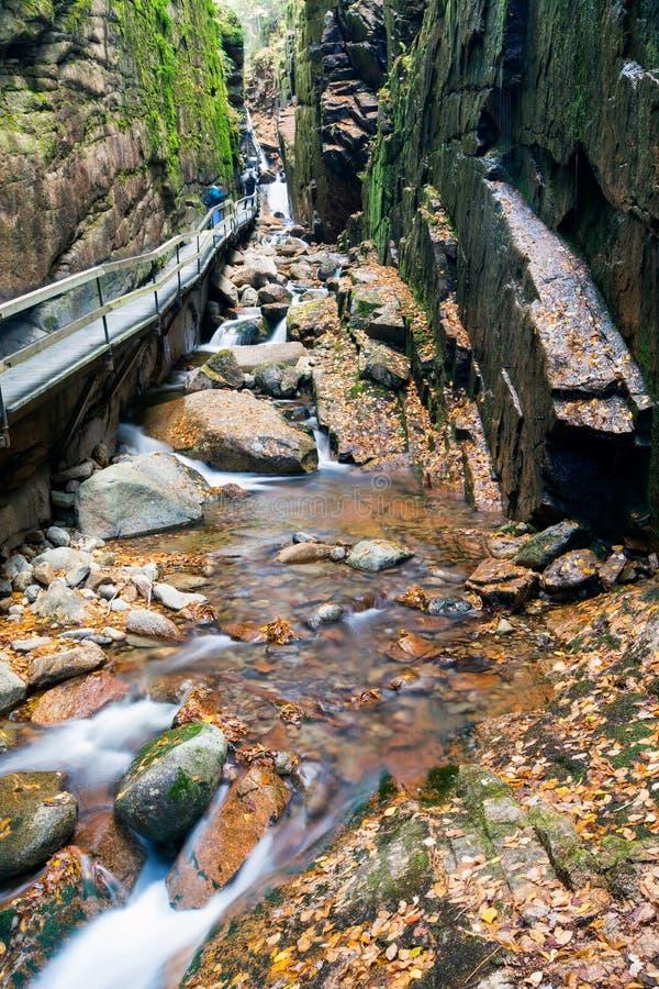 Parc d'état d'entaille de Franconia, New Hampshire, Etats-Unis images libres de droits