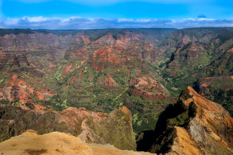 Parc d'état de canyon de Waimea - Kauai Hawaï image libre de droits