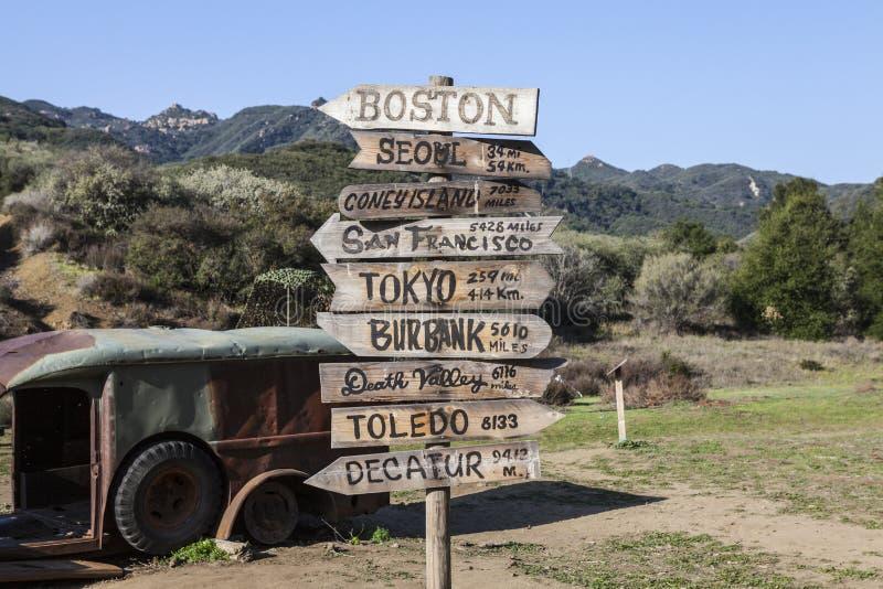 Parc d'état de crique de Malibu images libres de droits