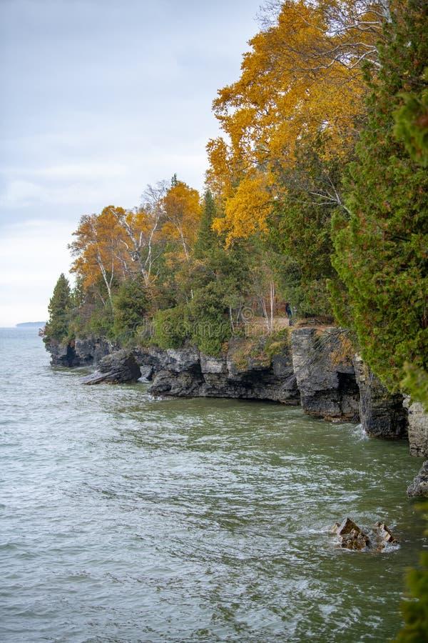 Parc d'état de dunes de poisson à chair blanche du comté de Door le Wisconsin photographie stock