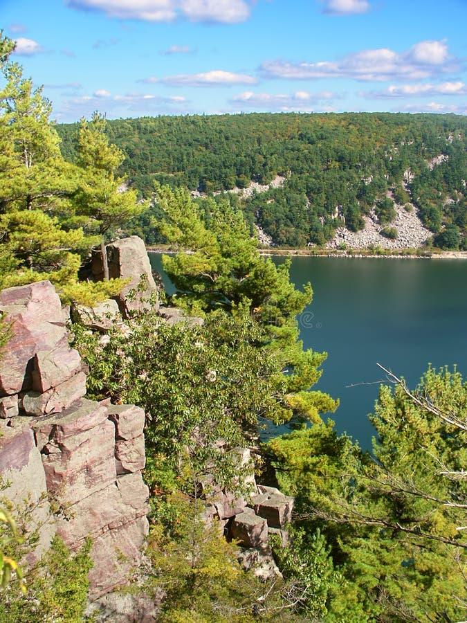 Parc d'état de lac devils le Wisconsin photo stock