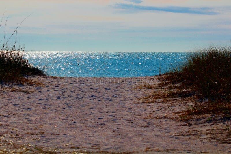 Parc d'état de plage de lune de miel, waterview images libres de droits