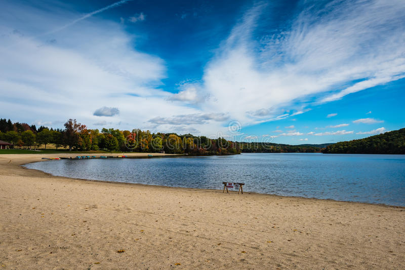 Parc d'état de Taghkanic de lac - Ancram, NY photos libres de droits