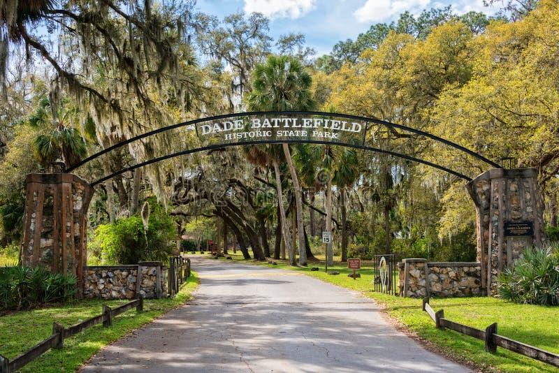 Parc d'état historique de champ de bataille de Dade images stock
