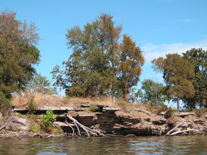 Parc d'état national cherokee de crique de Sallisaw, Sallisaw, OK photographie stock