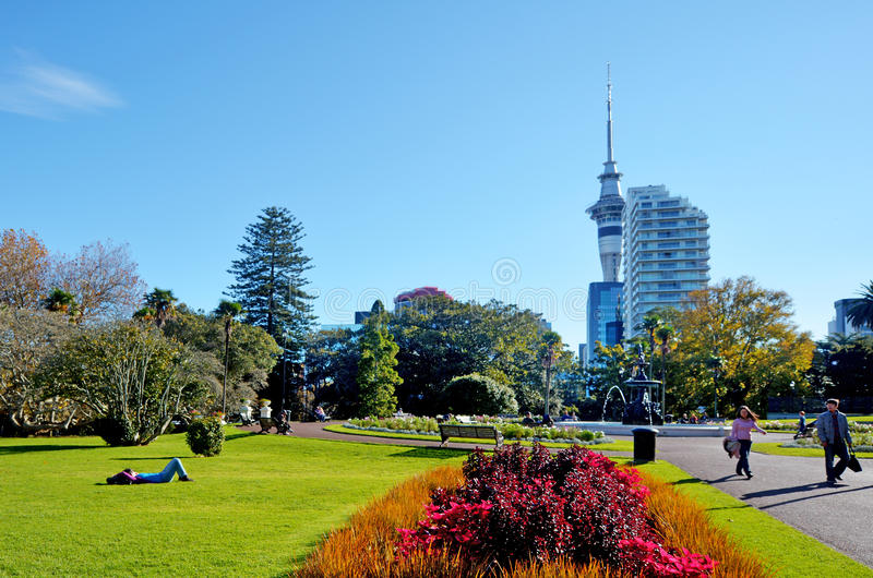 Parc d'Albert à Auckland Nouvelle-Zélande image stock