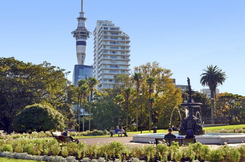 Parc d'Albert Auckland - Nouvelle-Zélande image libre de droits